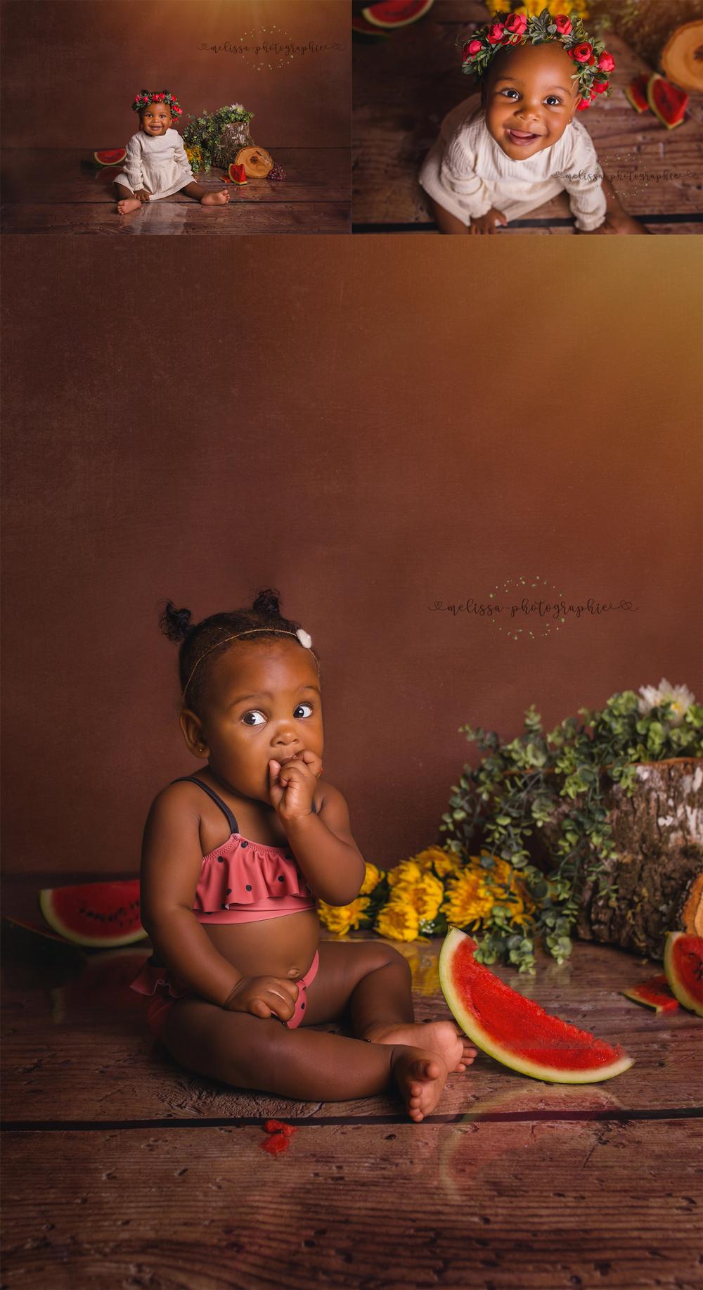 Mignonne petite fille en séance photo